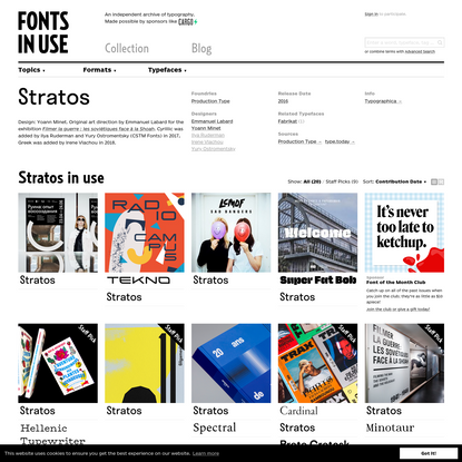 Stratos in use - Fonts In Use