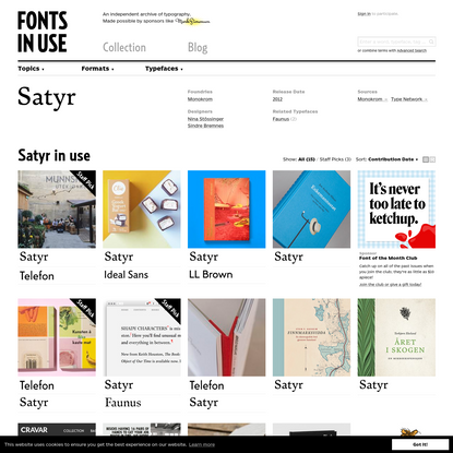 Satyr in use - Fonts In Use