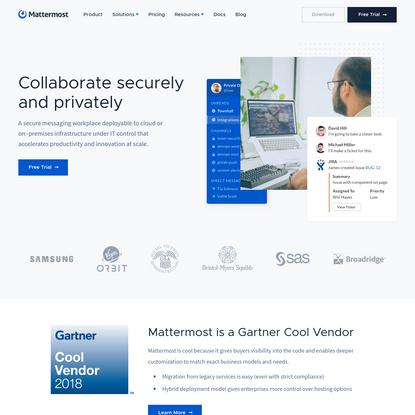 Mattermost: Open Source, Private Cloud Slack Alternative