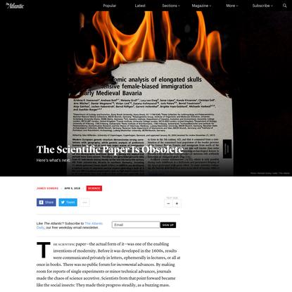 The Scientific Paper Is Obsolete