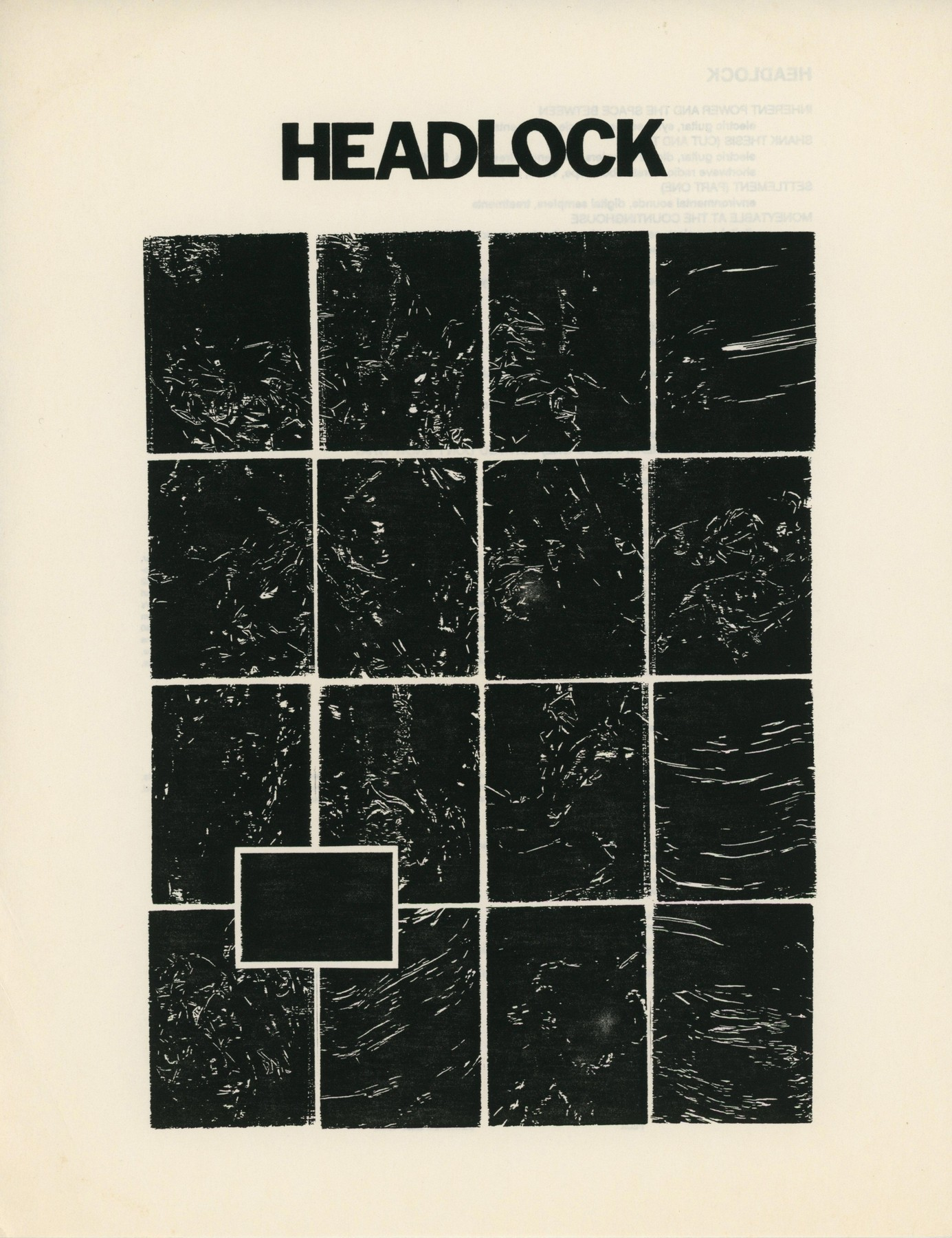 Thomas Dimuzio - Headlock LP Insert 1
