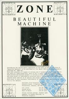 Zone - Beautiful Machine Promo LP Insert
