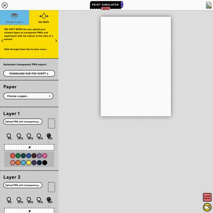 Print Simulator - Ink Shift - RISOTTO
