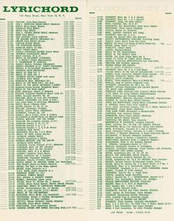 Lyrichord Catalog Insert