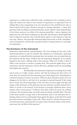 The Resistance of the Instrument