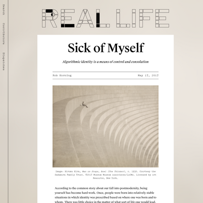 Sick of Myself - Real Life