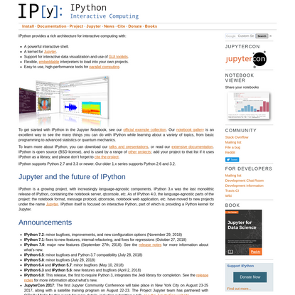 Jupyter and the future of IPython - IPython