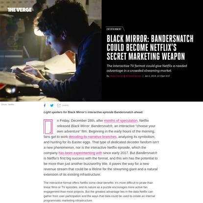 Black Mirror: Bandersnatch is Netflix's Trojan horse to profit