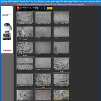 Free High Resolution Texture Library