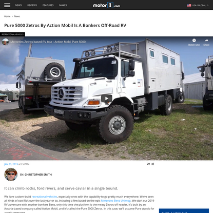 Pure 5000 Zetros By Action Mobil Is A Bonkers Off-Road RV