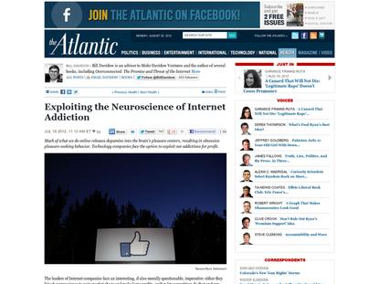 Exploiting the Neuroscience of Internet Addiction