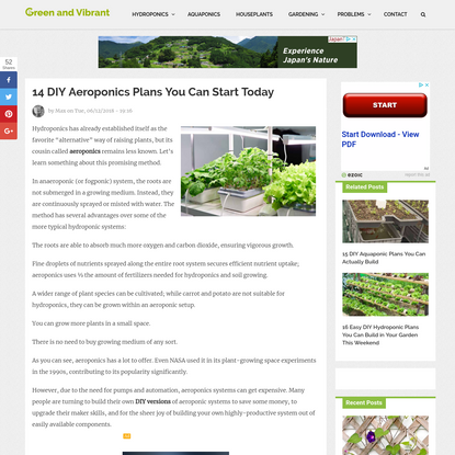 14 DIY Aeroponics Plans You Can Start Today