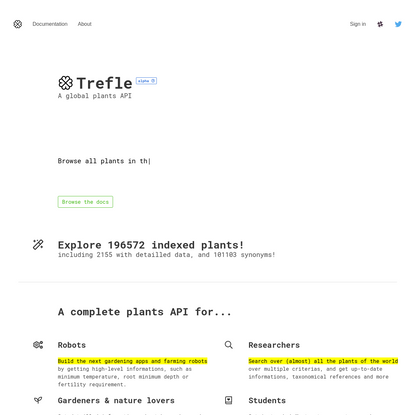 Trefle   Global plant API