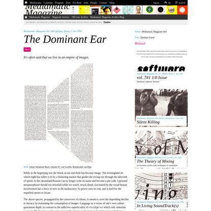 The Dominant Ear