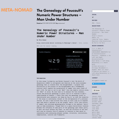 The Genealogy of Foucault's Numeric Power Structures - Man Under Number
