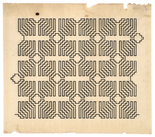 Wacław Szpakowski, B9, 1926, ink on tracing paper, 13 3/4″ X 15 3/4″