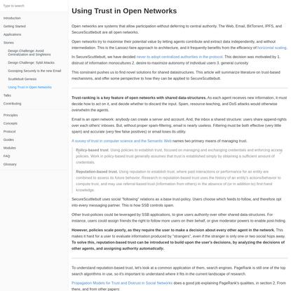 Using Trust in Open Networks · GitBook