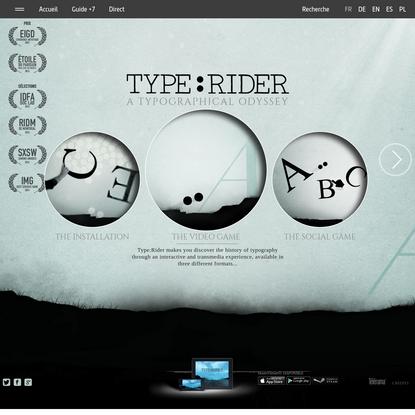 Type:Rider, un jeu vidéo typographique   ARTE