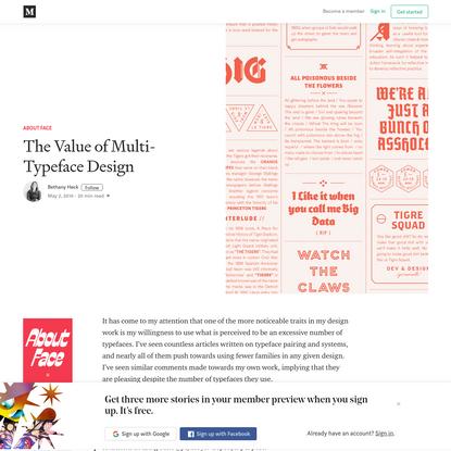 The Value of Multi-Typeface Design - About Face - Medium