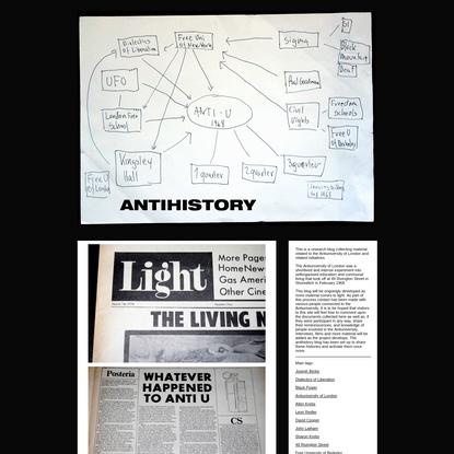 Antihistory | Antiuniversity of London