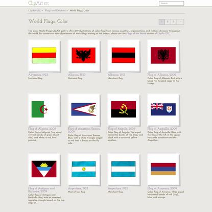 World Flags, Color   ClipArt ETC