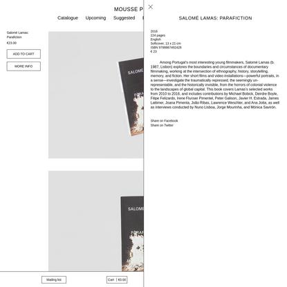 Salomé Lamas: Parafiction - Mousse Publishing
