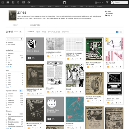 Zines : Free Books : Free Texts : Free Download, Borrow and Streaming : Internet Archive