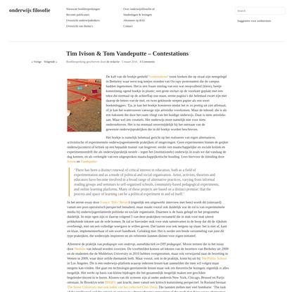 Tim Ivison & Tom Vandeputte - Contestations