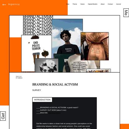 BRANDING & SOCIAL ACTVISM - Get Me - Journal