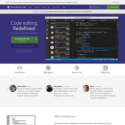 Visual Studio Code - Code Editing. Redefined