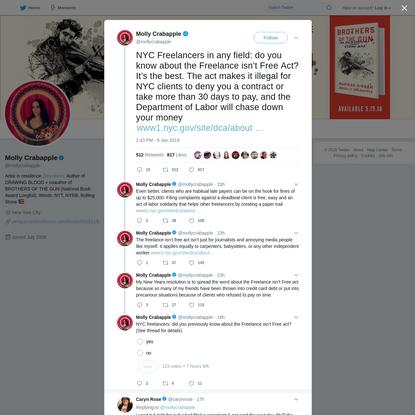 Molly Crabapple on Twitter