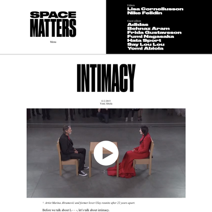 Space Matters - Welcome to a digital atelier where inspirational women in fashion share their processes