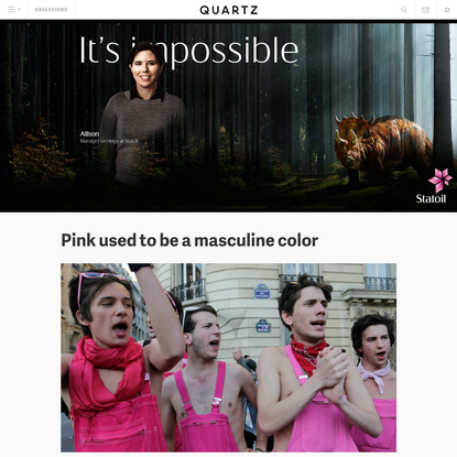 Pink used to be a masculine color