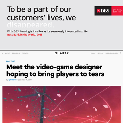 Meet the video-game designer hoping to bring players to tears