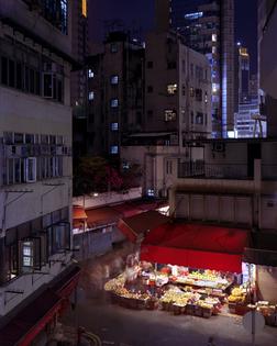 Hong Kong street corner fruit shop