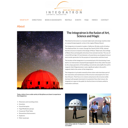 About | Integratron