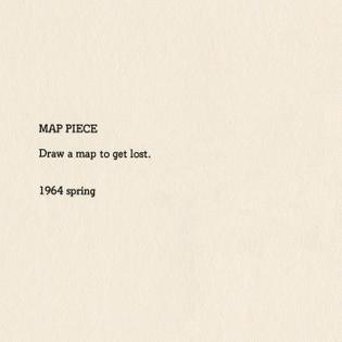 Yoko Ono, Map Piece, Grapefruit, 1964