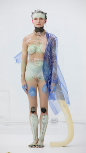 POLYSTRENE BRACES (2015) by Donna Huanca