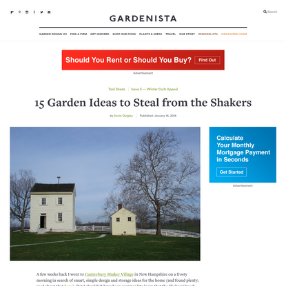 15 Garden Ideas to Steal from the Shakers - Gardenista