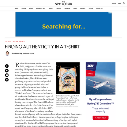 Finding Authenticity in a T-Shirt