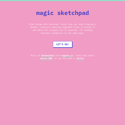 Magic Sketchpad