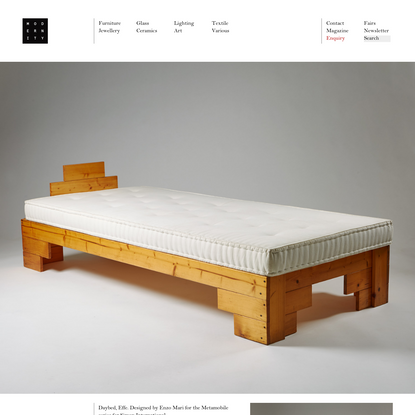 Daybed, Effe. Designed by Enzo Mari for the Metamobile series for Simon International, - Modernity