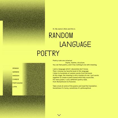Random Language Poetry