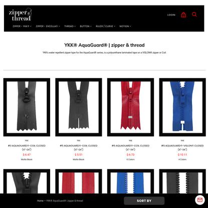 YKK® AquaGuard® | zipper & thread