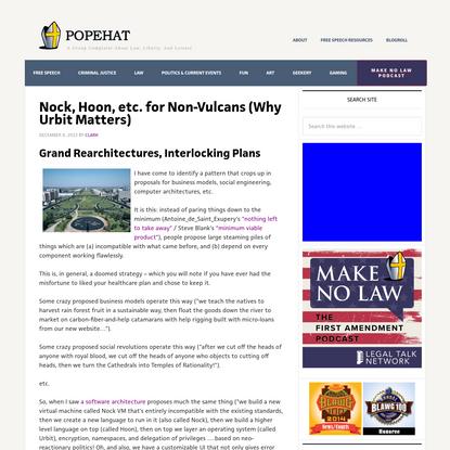 Nock, Hoon, etc. for Non-Vulcans (Why Urbit Matters)