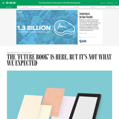 The 'Future Book' Is Here, but It's Not What We Expected
