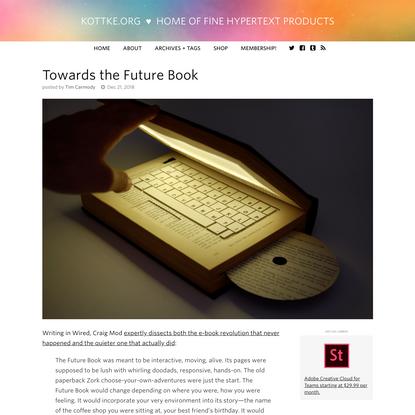 Towards the Future Book