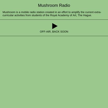 Mushroom Radio