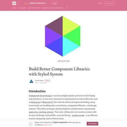 Build Better Component Libraries with Styled System