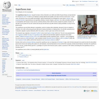 Superfluous man - Wikipedia
